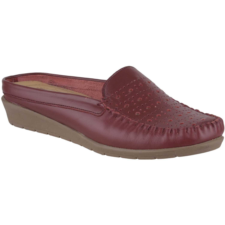 Limoni - Cuero m 1918102 Rojo Flats