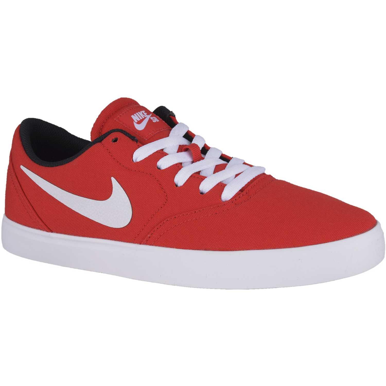 nike sb hombre zapatillas rojo