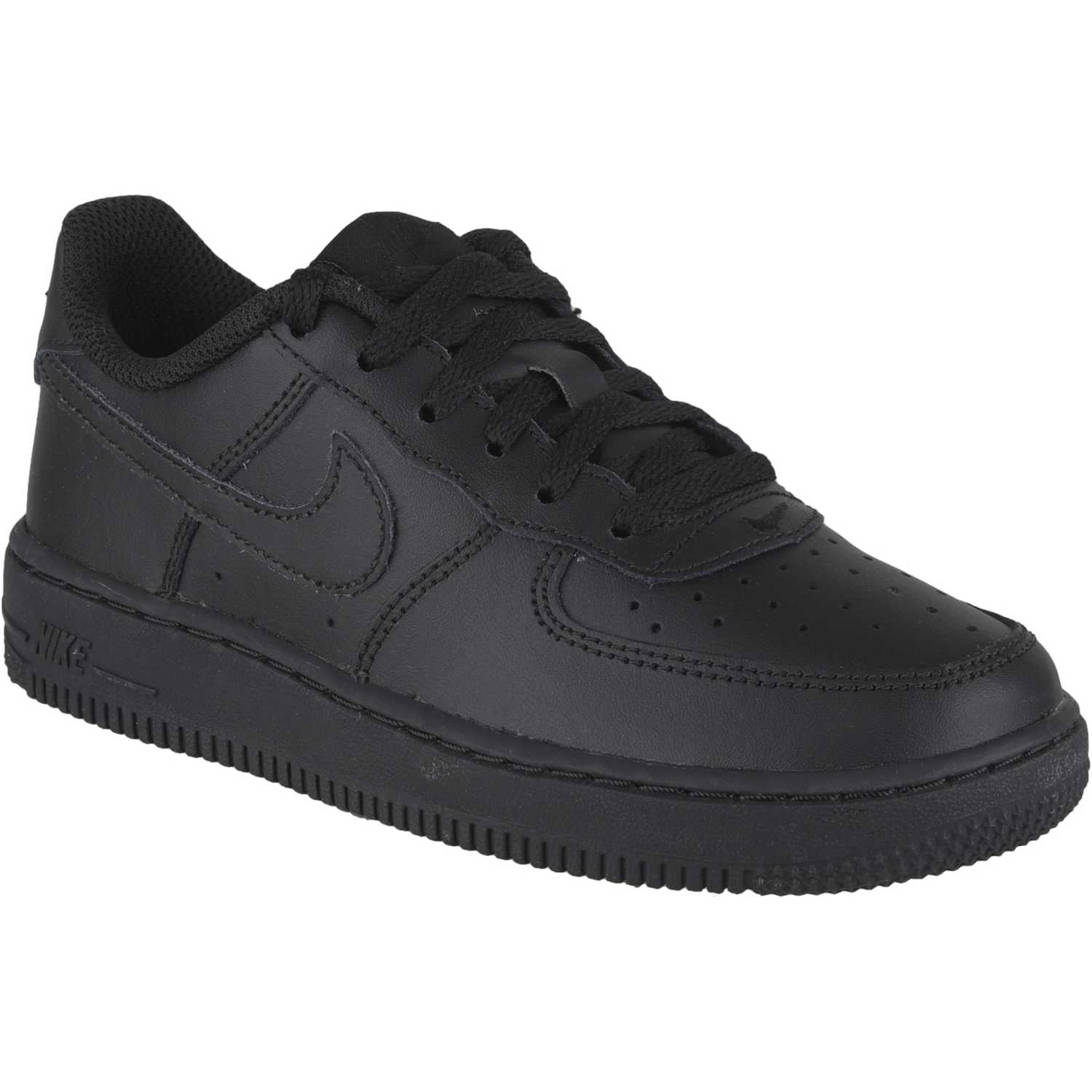 Casual de Niño Nike Negro / negro force 1 bp