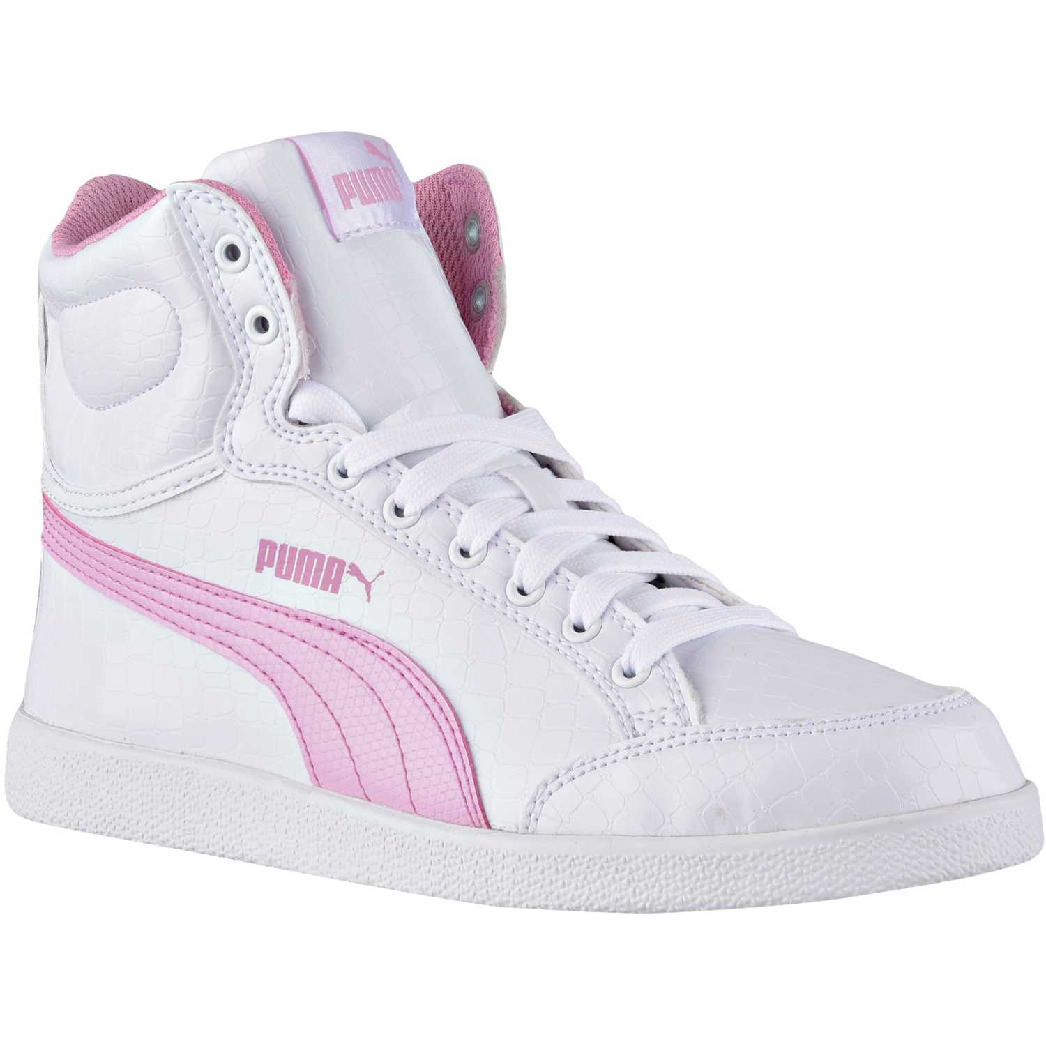 Puma ikaz mid serpent jr Blanco / rosado Walking