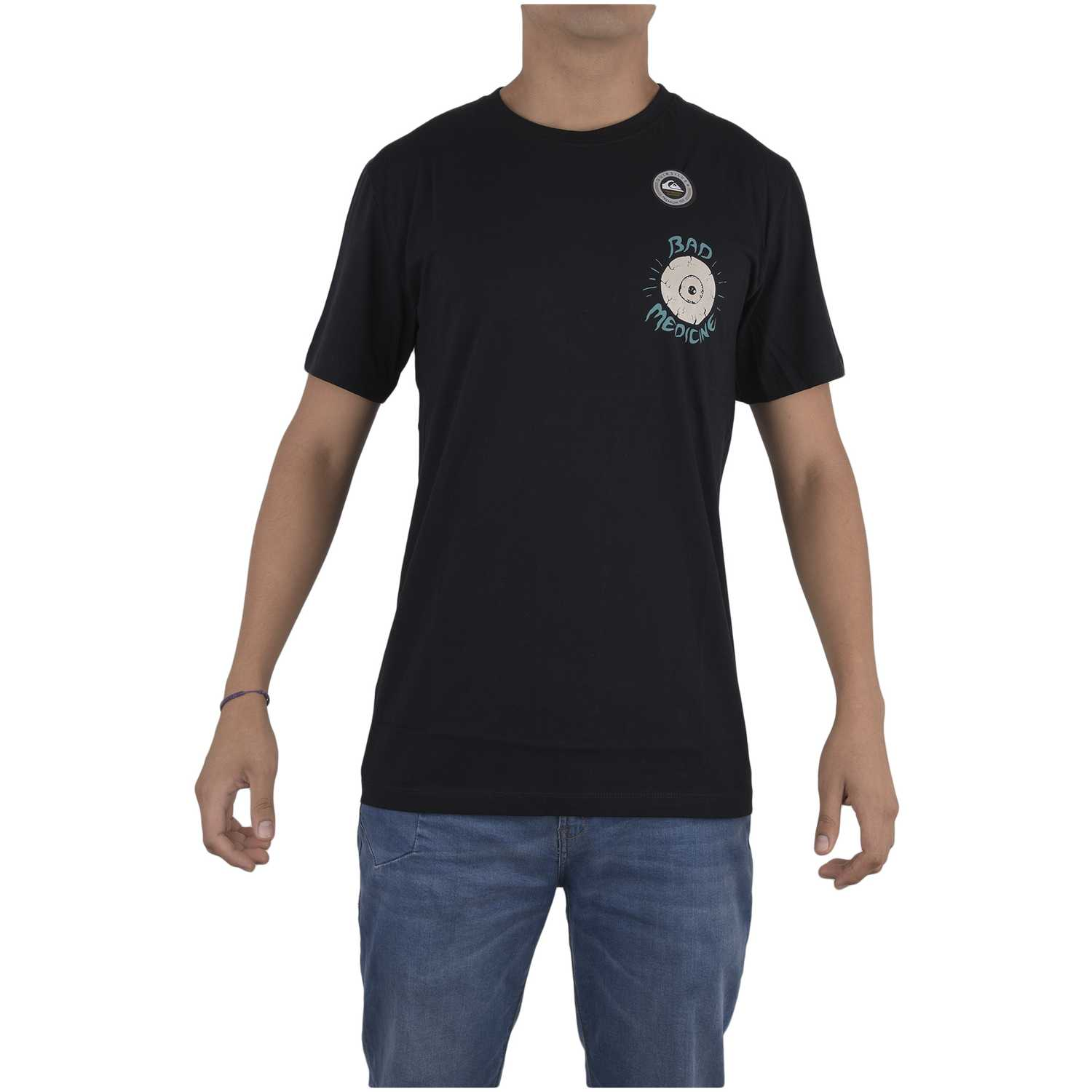 Quiksilver pm ss tee bad machine Negro Polos