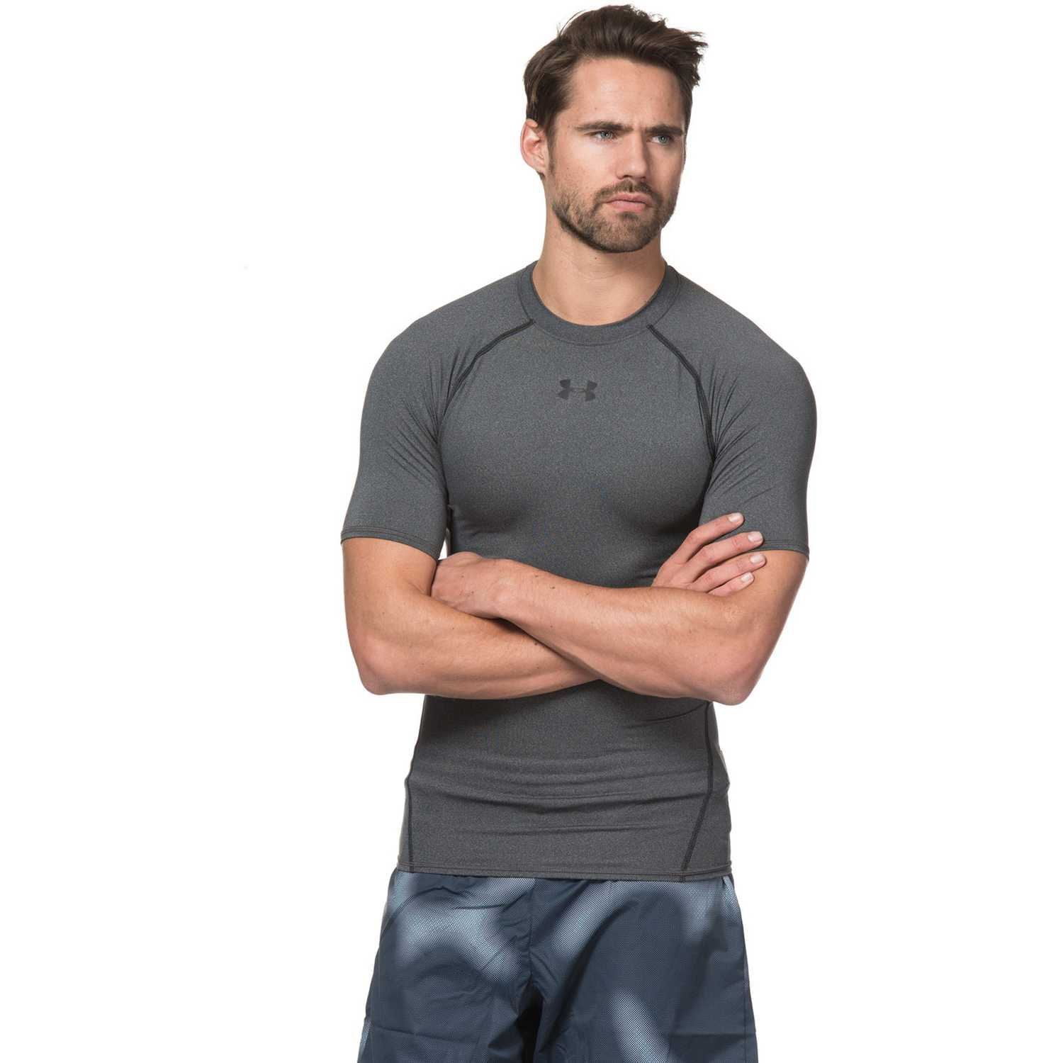 Under Armour Armour Hg Ss T Gris / negro Ropa interior deportiva