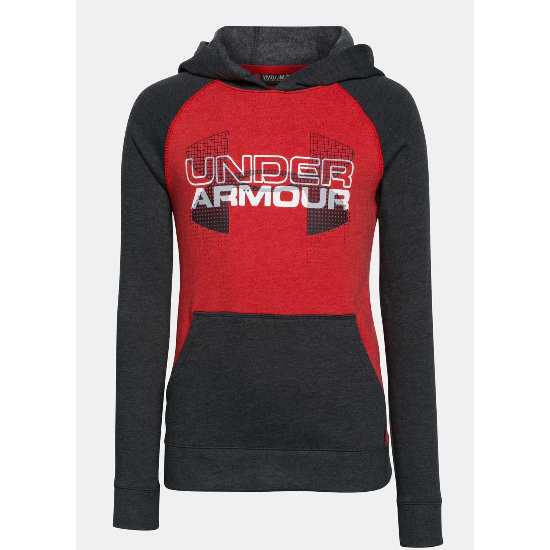 Under Armour ua tri-blend hoodie Rojo / negro Sweatshirts Deportivos