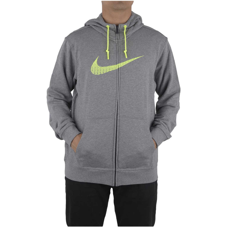 Nike club ft fz hoody-swoosh+ Gris Sweatshirts Deportivos