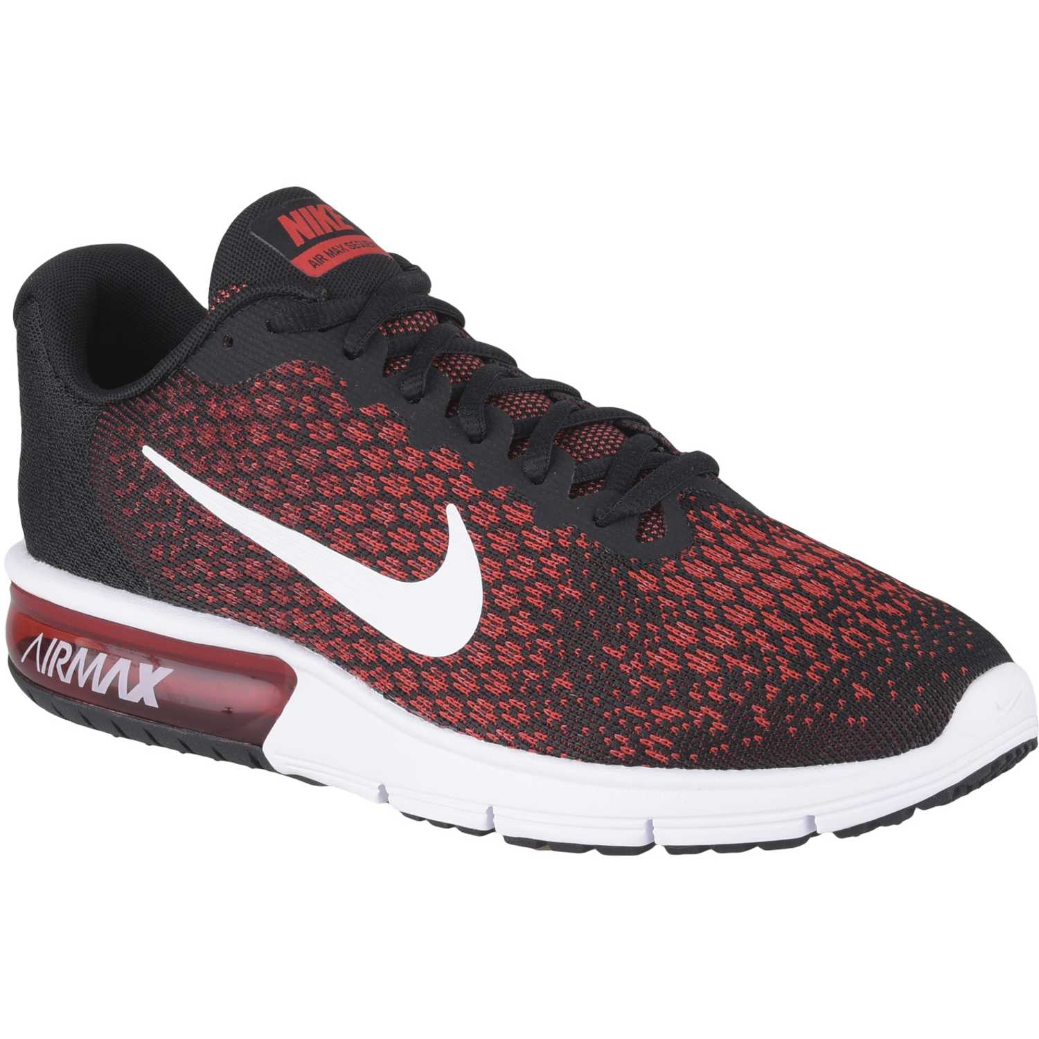 Nike air max sequent 2 Negro / rojo Trail Running