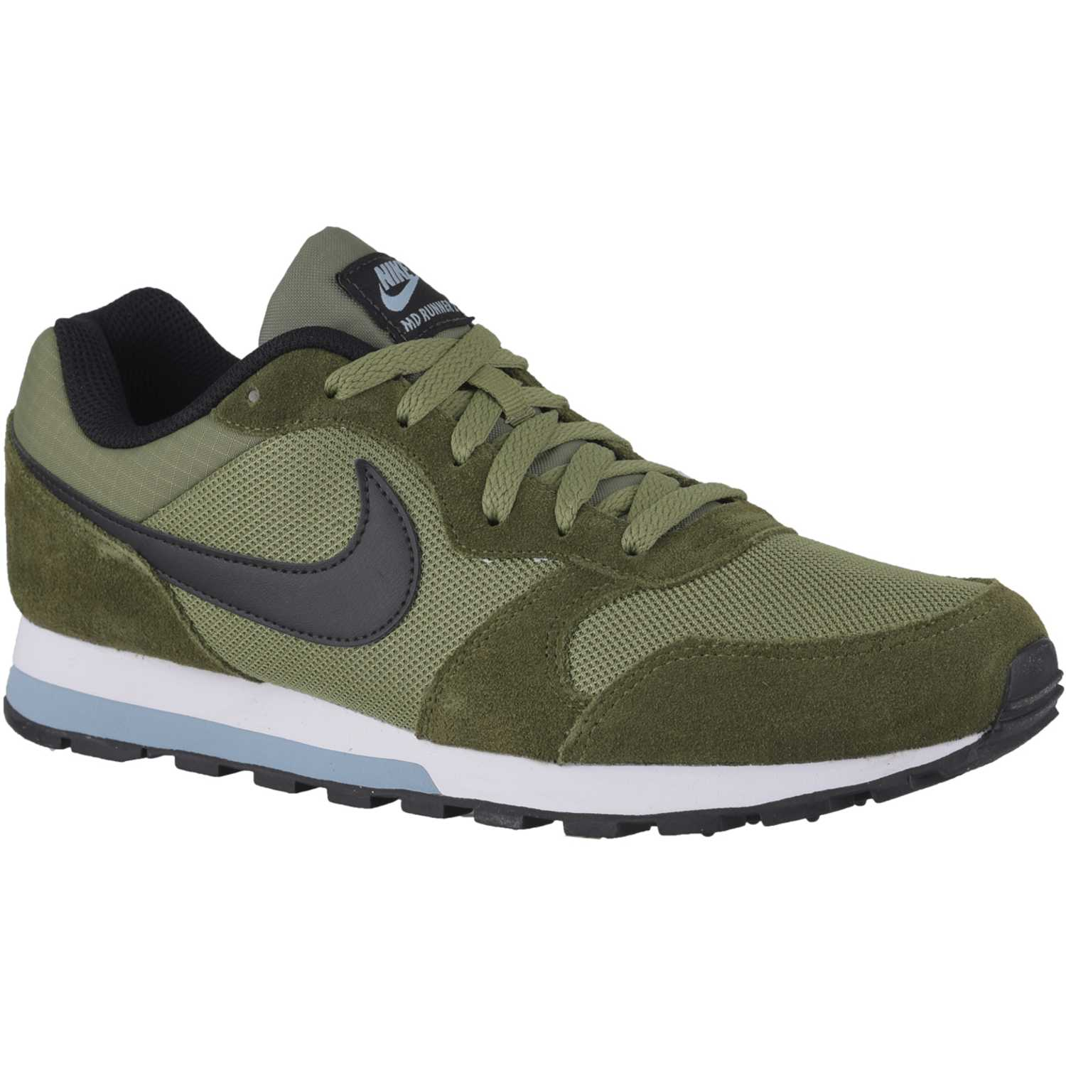 Nike md runner 2 Verde / blanco Walking | platanitos.com