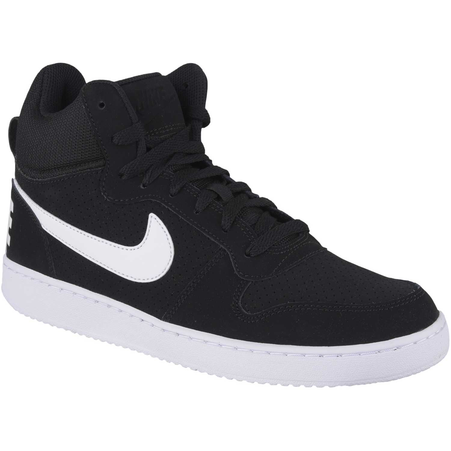 Nike court borough mid Negro blanco Walking |