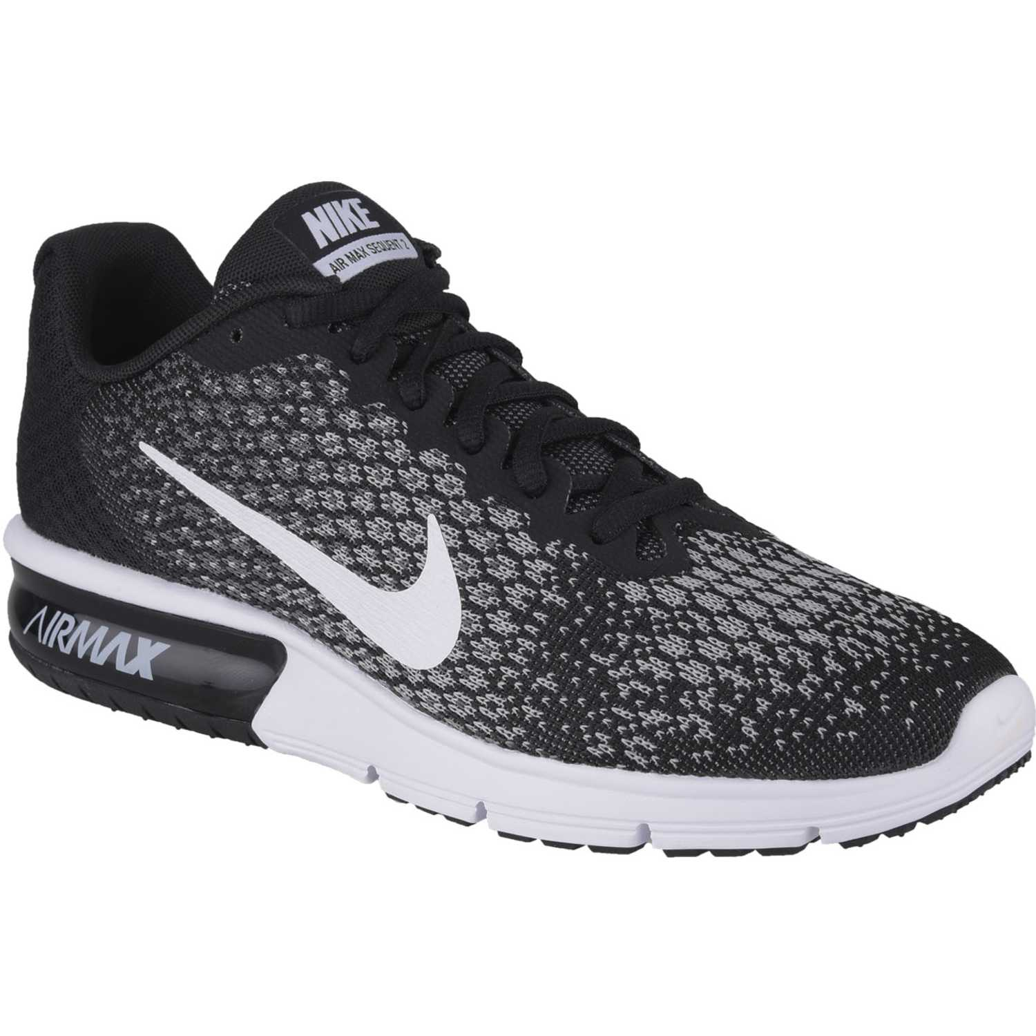 Nike air max sequent 2 Negro blanco |