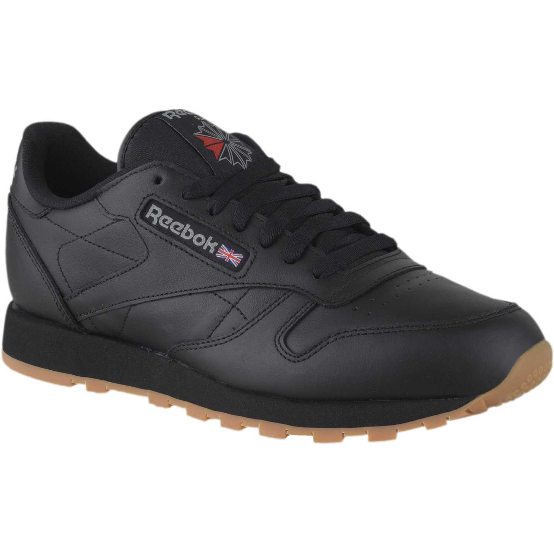 Reebok Classic Leather Negro / negro Para caminar