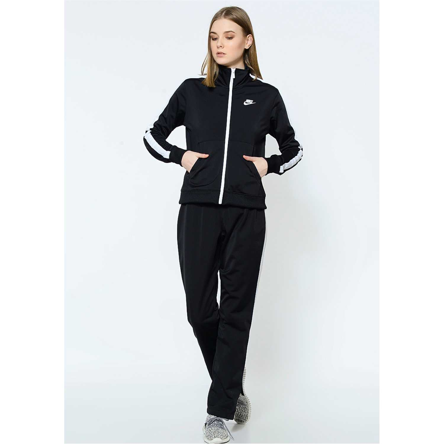 Nike wmns nsw trk suit pk oh Negro / blanco