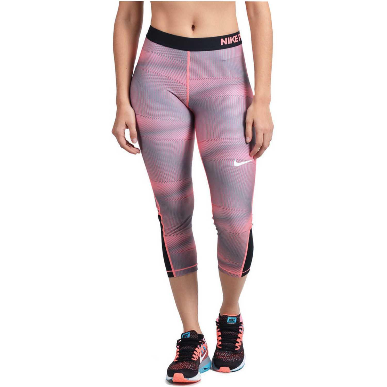 Nike PRO CL CPRI PYRAMID Rosado / negro Leggings