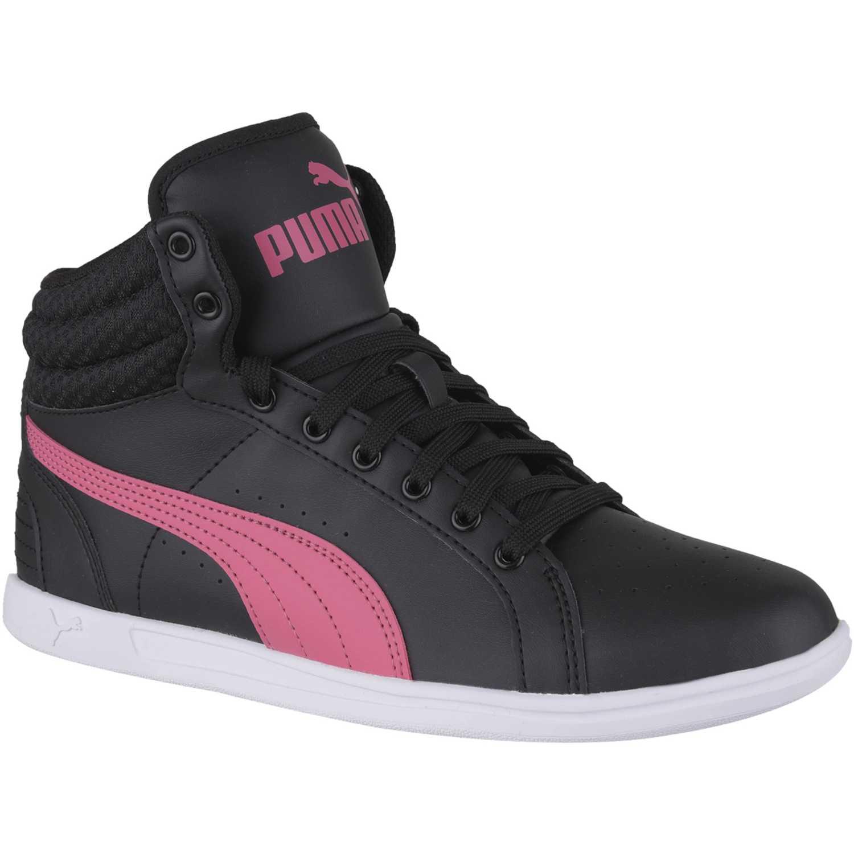 Casual de Jovencita Puma Negro / rosado ikaz mid v2 jr
