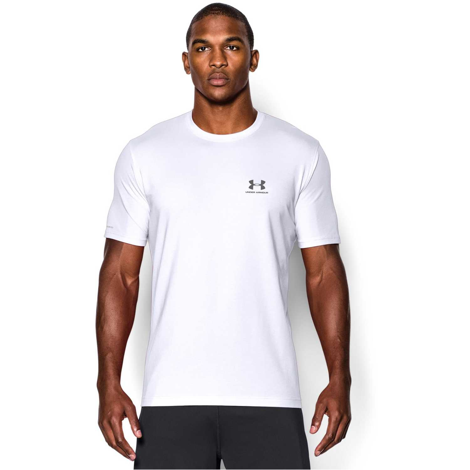 Muñequeras de Mujer Under Armour BL/GR cc left chest lockup