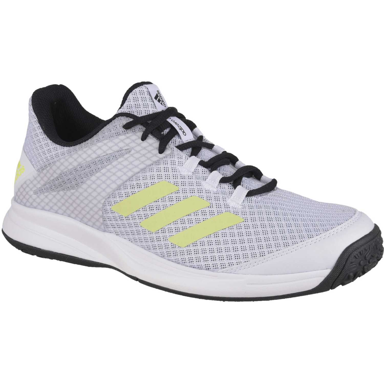 Adidas adizero club oc Gris / verde Tennis & Deportes con Raqueta