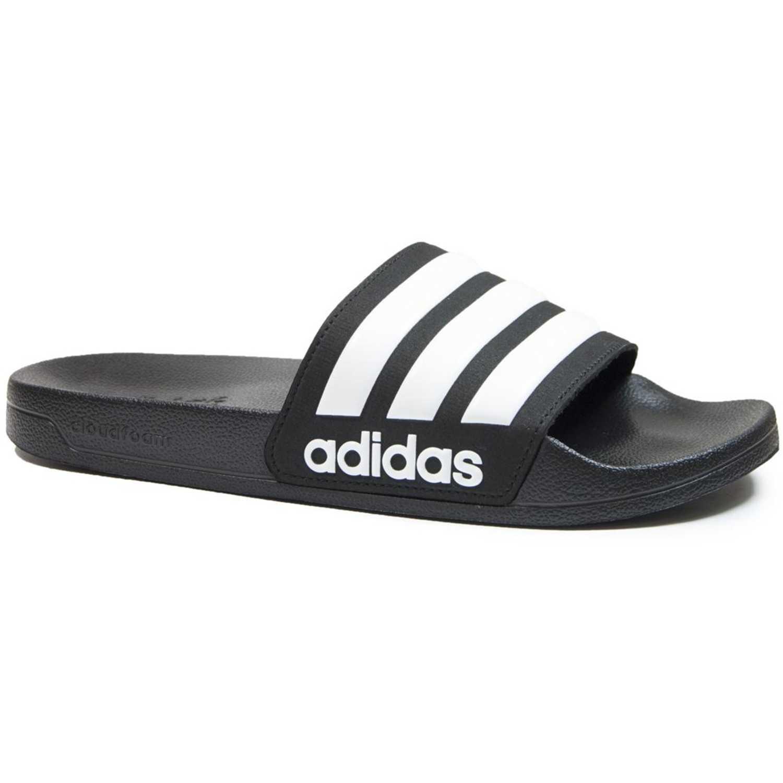 Adidas ADILETTE SHOWER Negro / blanco Sandalias deportivas y slides