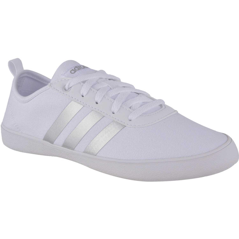 adidas NEO qt vulc 2.0 w Blanco / plateado Walking