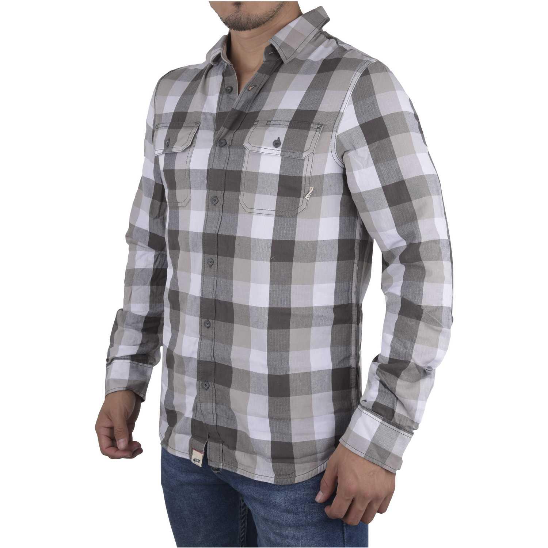 Vans alameda Gris / blanco Camisas de botones