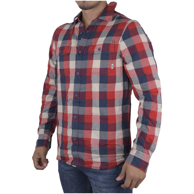 Camisas de Hombre Vans Rojo / azul alameda