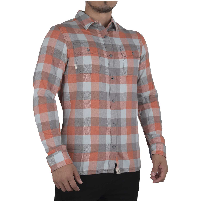 Camisas de Hombre Vans Naranja / gris alameda ii