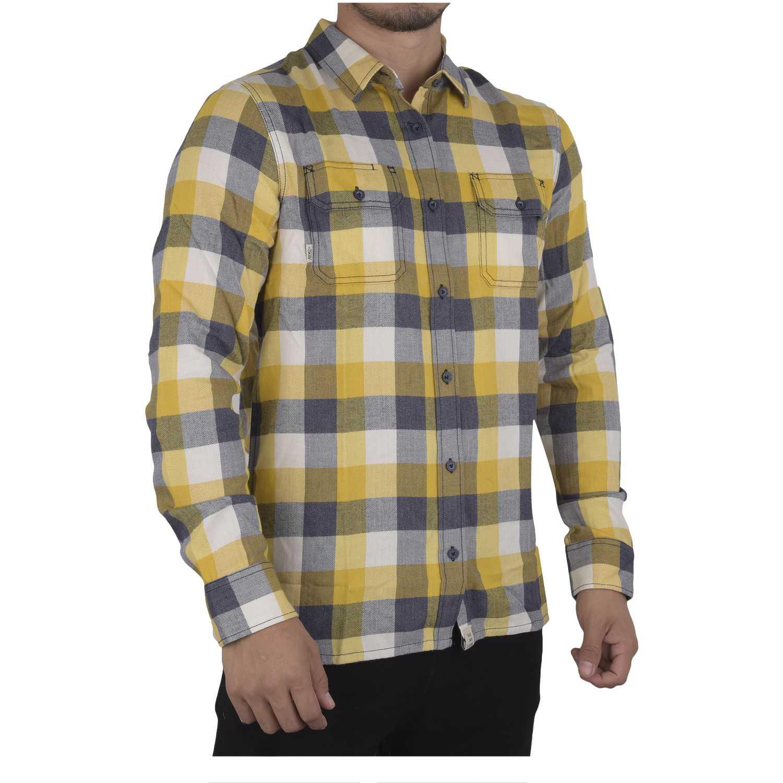 Camisas de Hombre Vans Amarillo / gris alameda ii