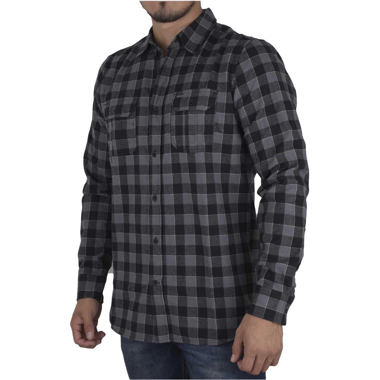 Camisas de Hombre Hurley Negro / verde westley woven long sleeve