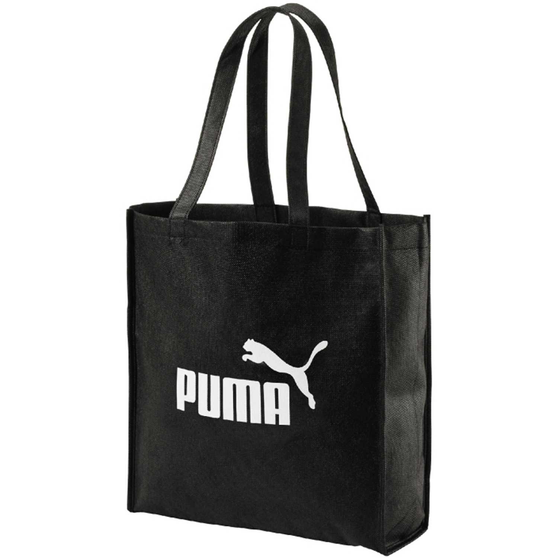 Puma core shopper Negro / blanco