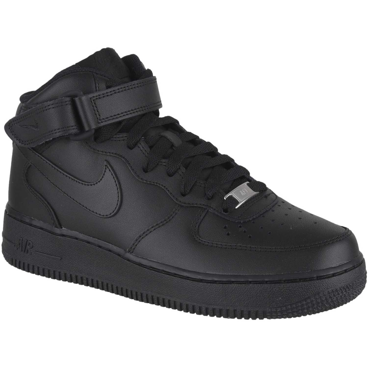 Casual de Hombre Nike Negro / negro air force 1 mid 07
