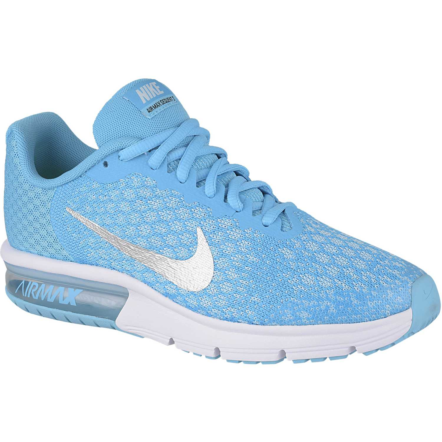 Nike air max sequent 2 gg Celeste / blanco Chicas
