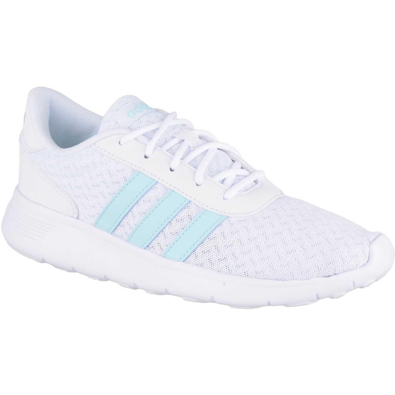 adidas NEO lite racer w Blanco / celeste Walking