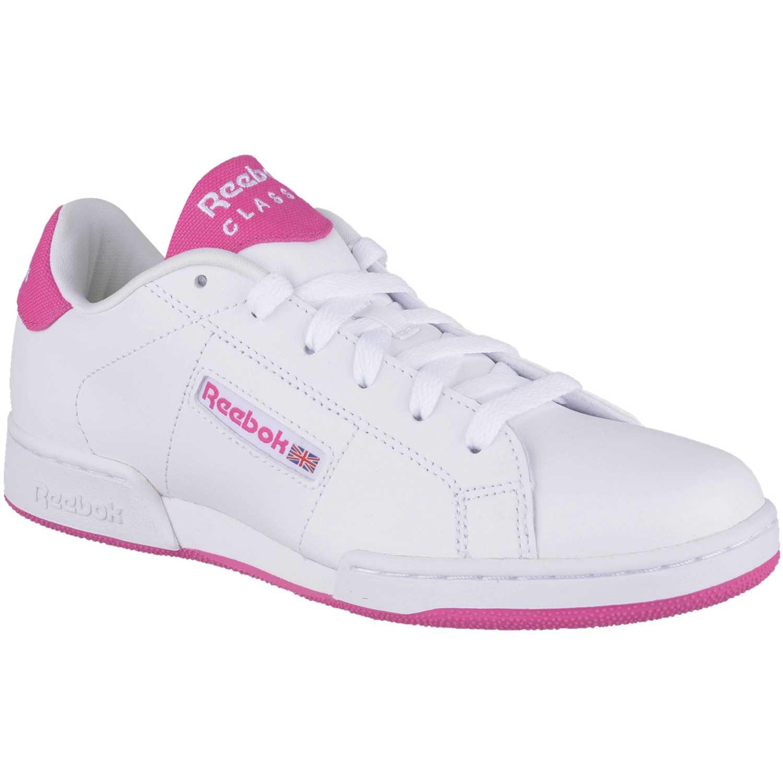 Casual de Jovencita Reebok Blanco / rosado npc ii