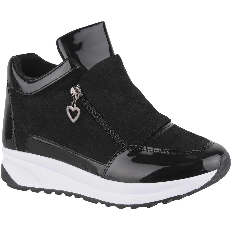 Zapatillas de Mujer Platanitos Negro z-7402