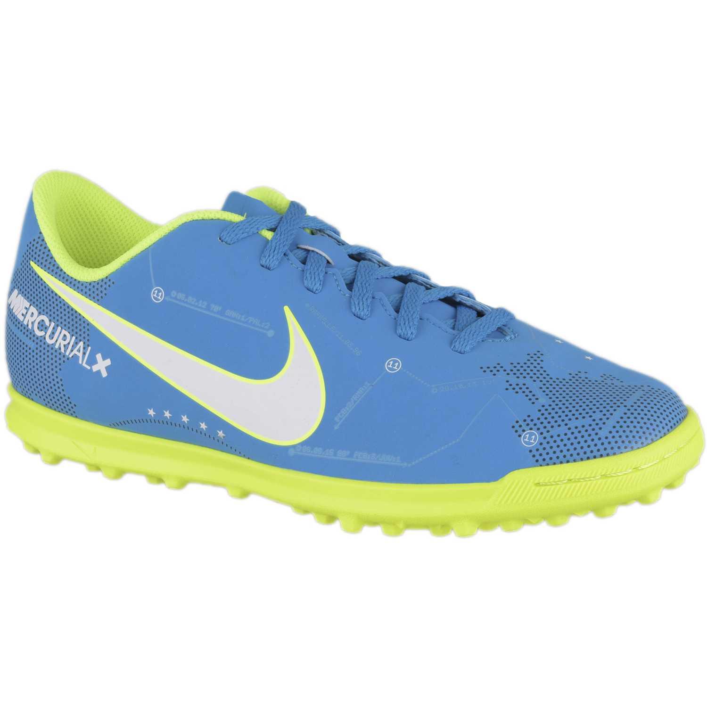 Nike jr mercurialx vrtx iii njr tf Celeste / verde Muchachos