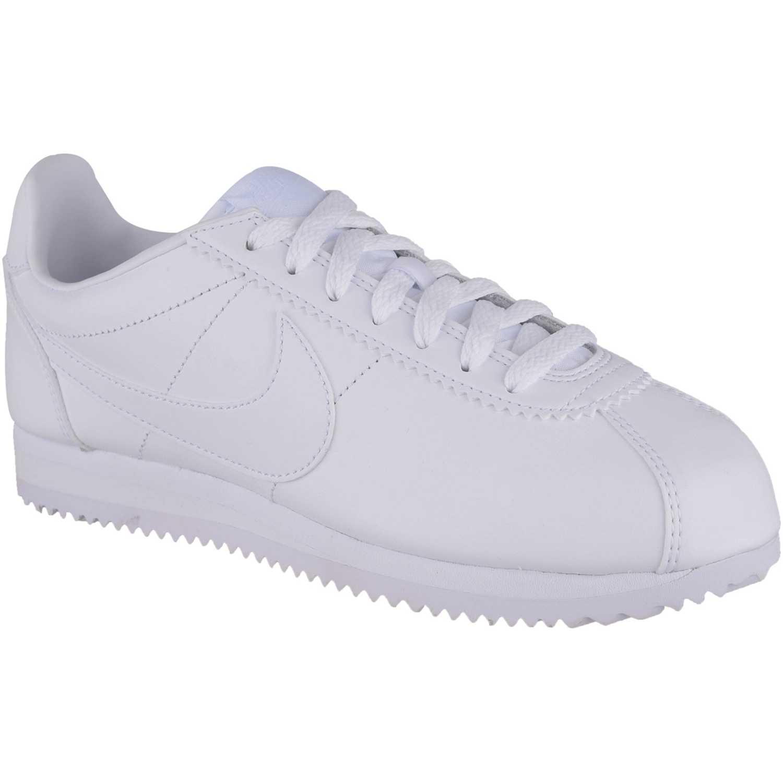 Nike WMNS CLASSIC CORTEZ LEATHER BLANCO / BLANCO Walking