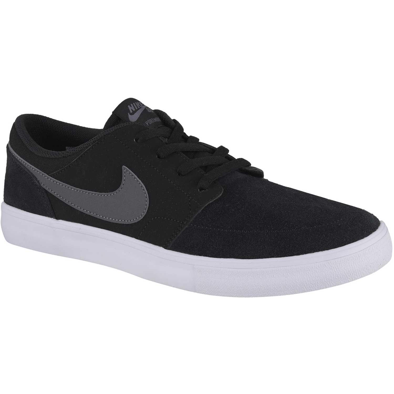 Nike sb portmore ii solar NEGRO / GRIS Hombres