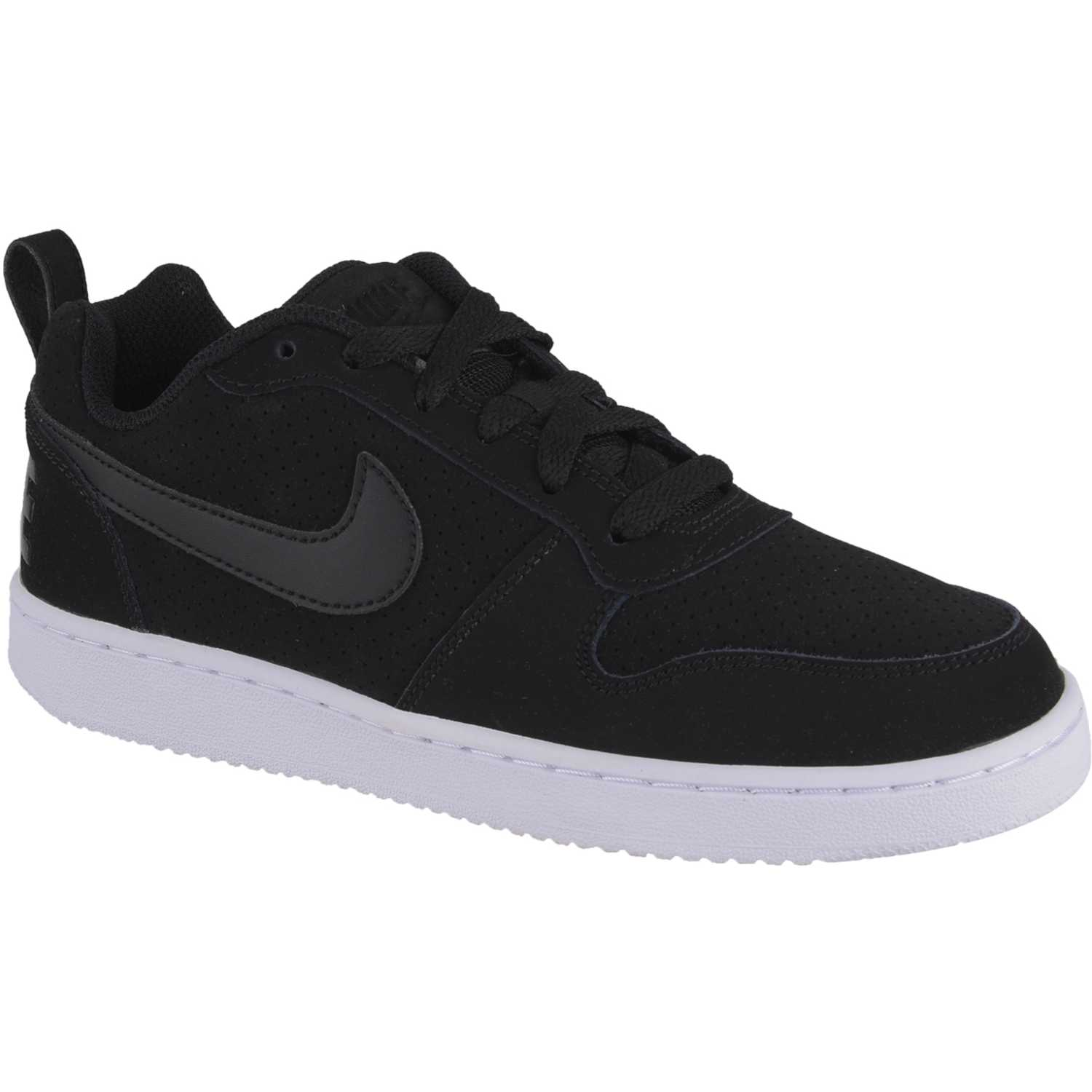 Nike wmns court borough low Negro / blanco Walking