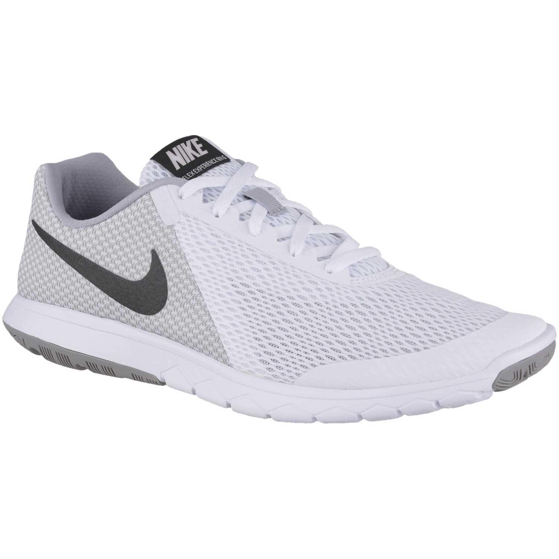 pellizco Tendero Comunista  Nike Flex Experience Rn 6 Blanco / negro Calzado de correr   platanitos.com
