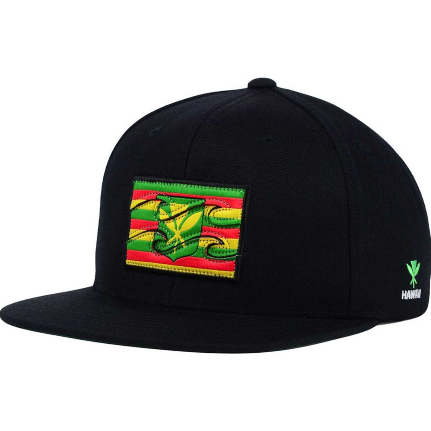 Billabong native Negro / verde Gorros de Baseball