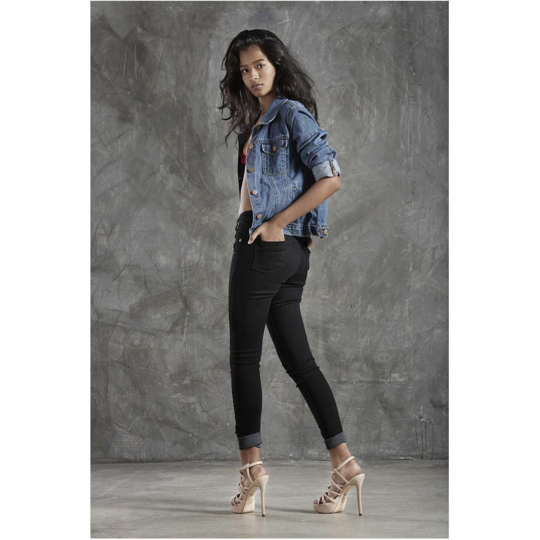 CUSTER pitillo Negro Jeans