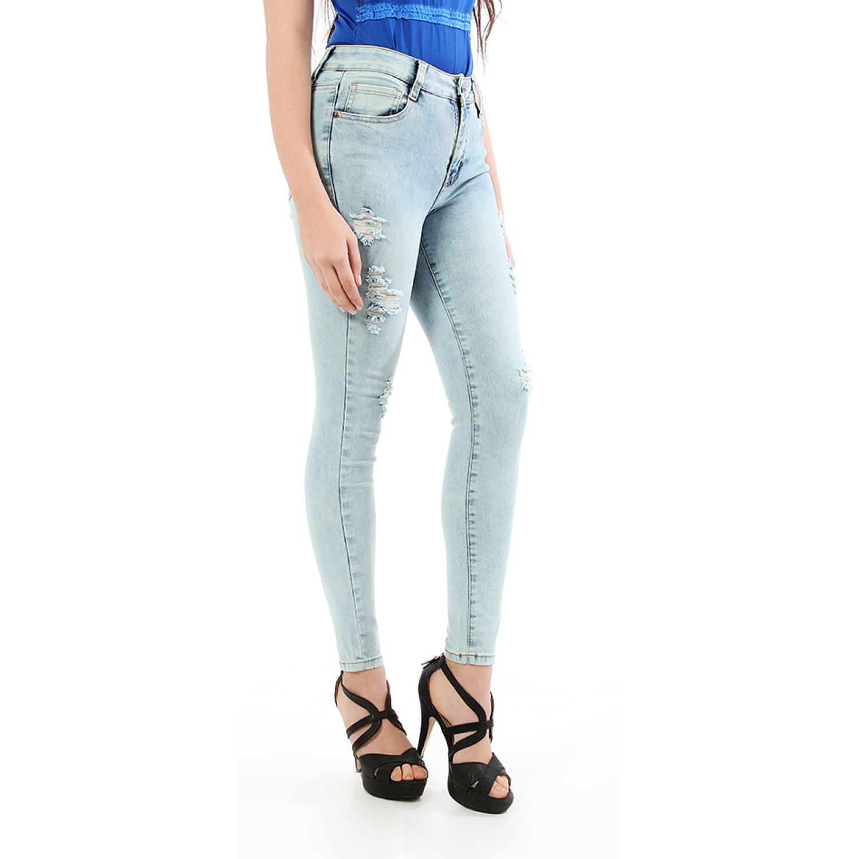 CUSTER Fashion Acid blue Pantalones