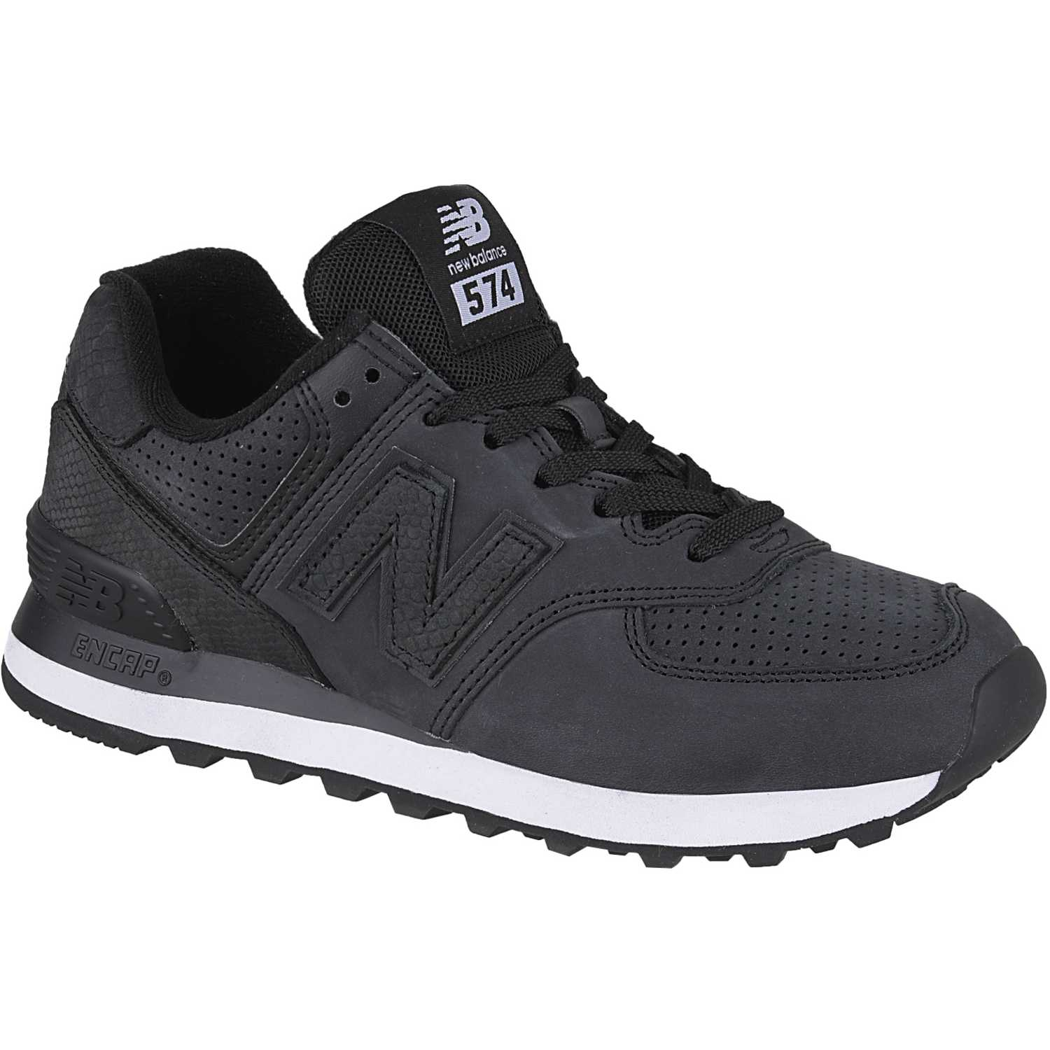 New Balance 574 Negro / blanco Walking | platanitos.com