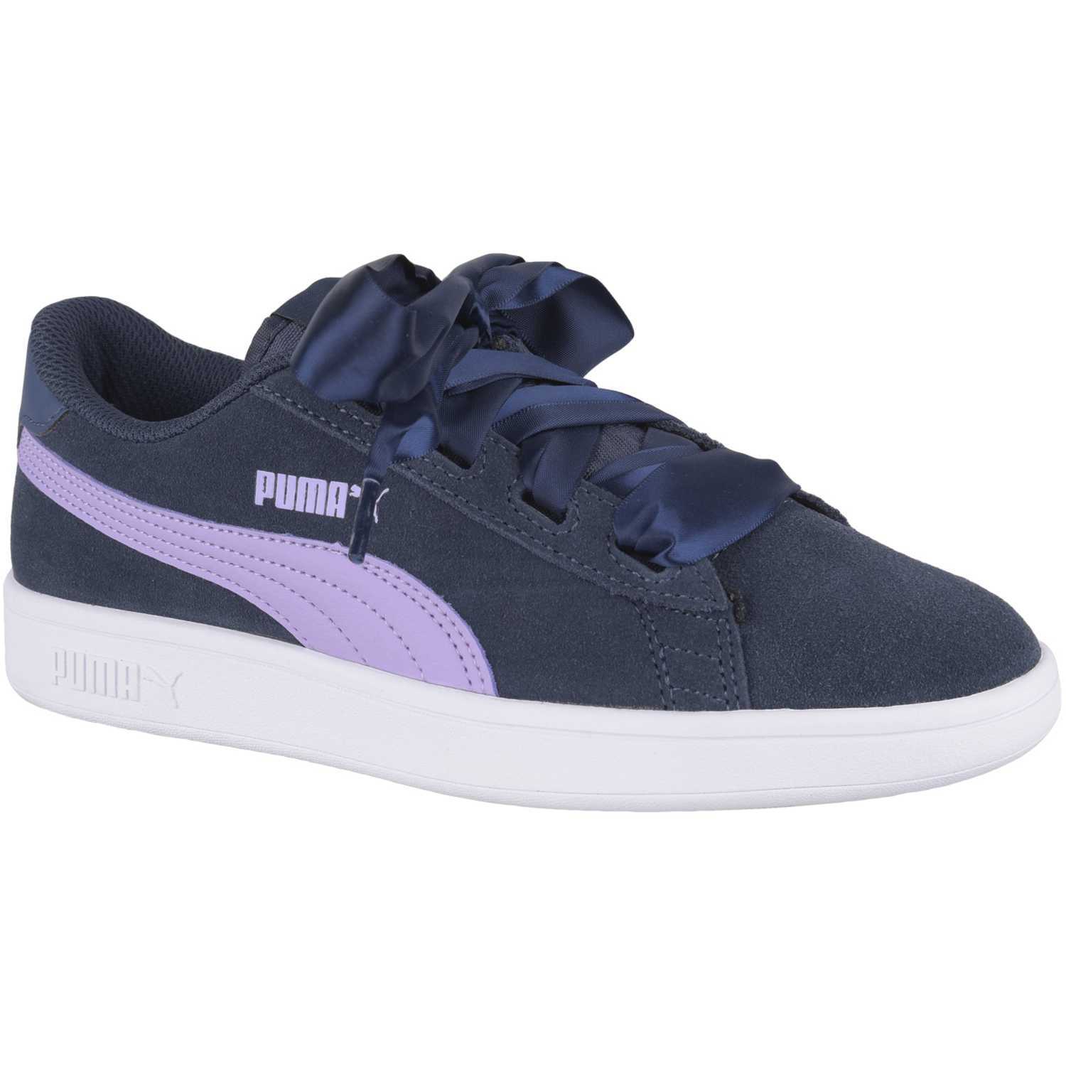 Puma smash v2 ribbon jr Azul / rosado Walking