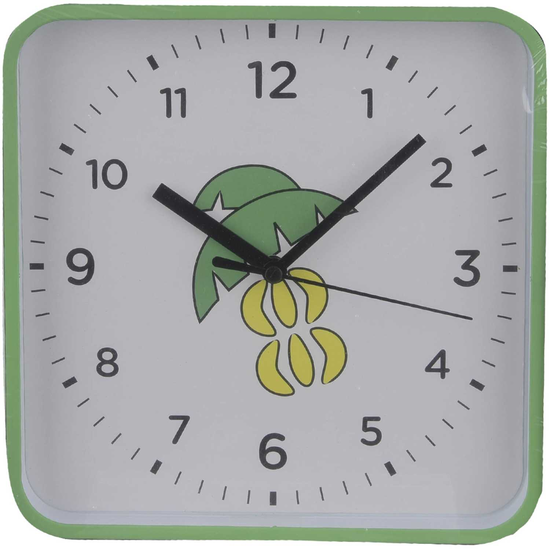 Promo Reloj Pared de Mujer Platanitos Verde jhtree
