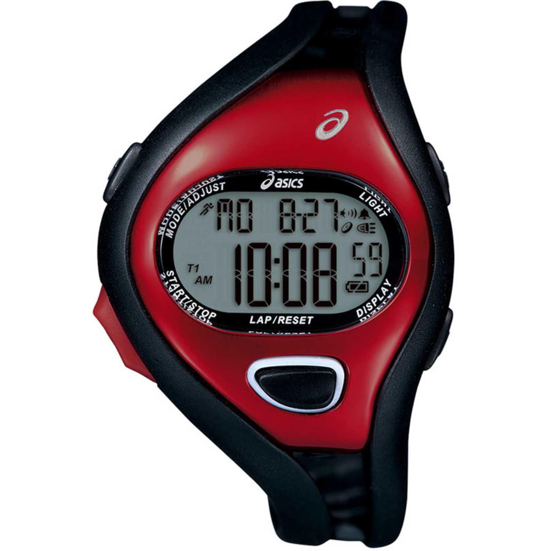 Asics cqar0506 Negro / rojo Relojes de Pulsera