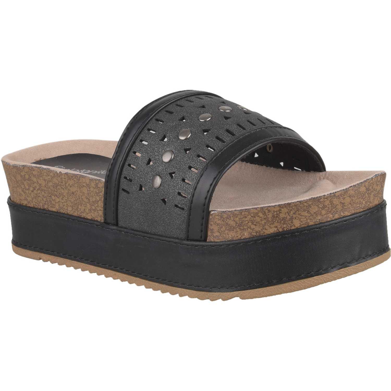 Sandalia de Mujer Platanitos Negro sf 3a10