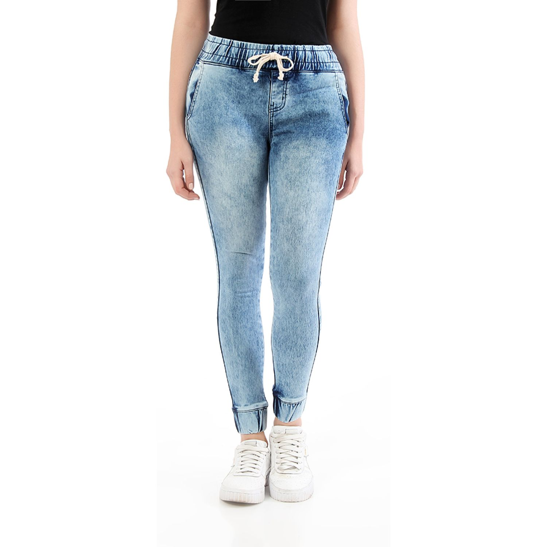 CUSTER jogger w Acid Wahs Jeans
