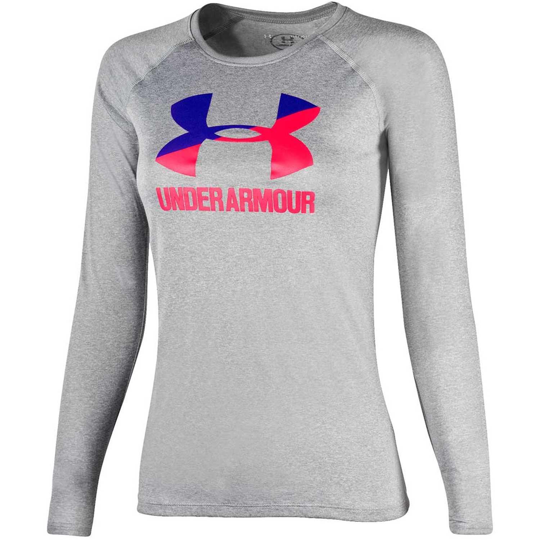 Under Armour big logo long sleeve Gris Sweatshirts Deportivos