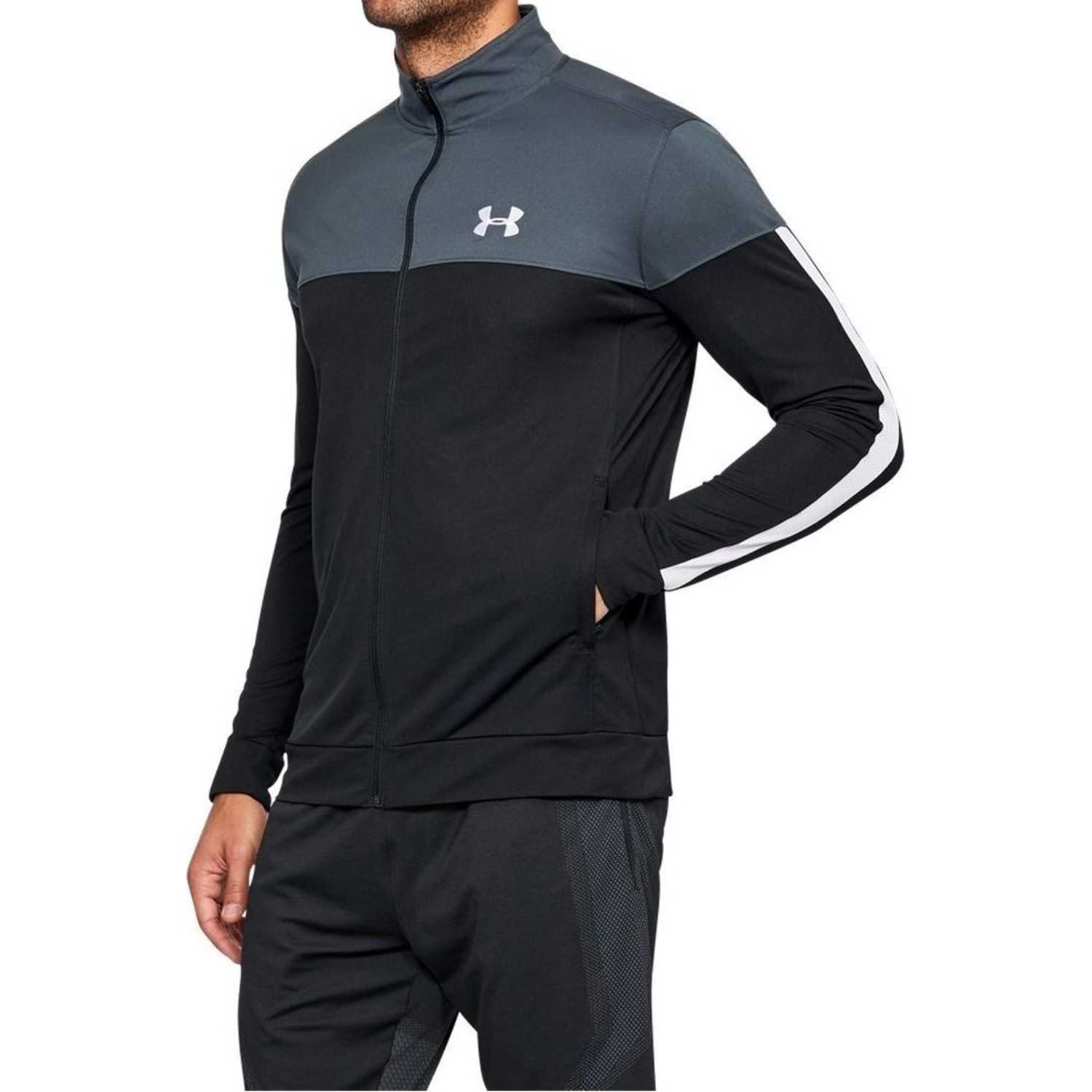 Under Armour sportstyle pique track jacket NEGRO / GRIS Casacas de Atletismo