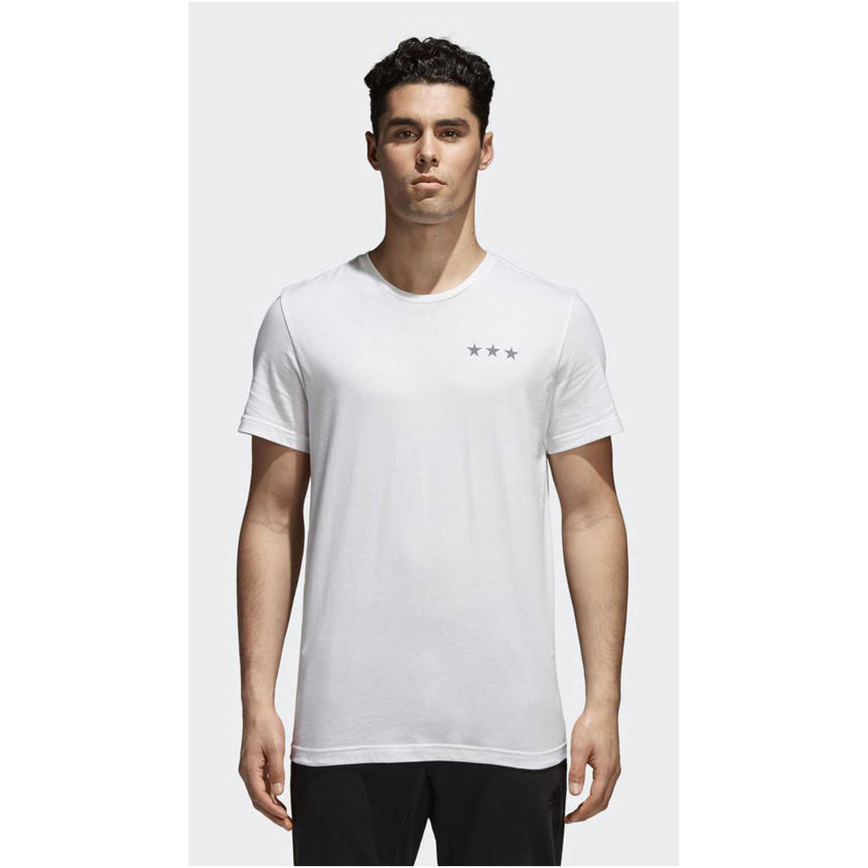 Adidas winner flags Blanco Camisetas y Polos Deportivos