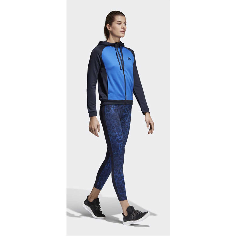 Buzos de Mujer Adidas Azulino / negro wts hoody&tight