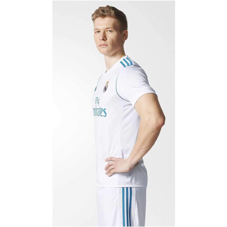 Adidas real h jsy Blanco / turquesa Camisetas y Polos Deportivos